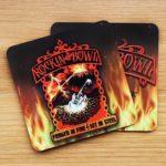 Rockin the Bowl – Fire Aluminium Coaster